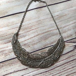 Forever 21 Leaf Silver Necklace